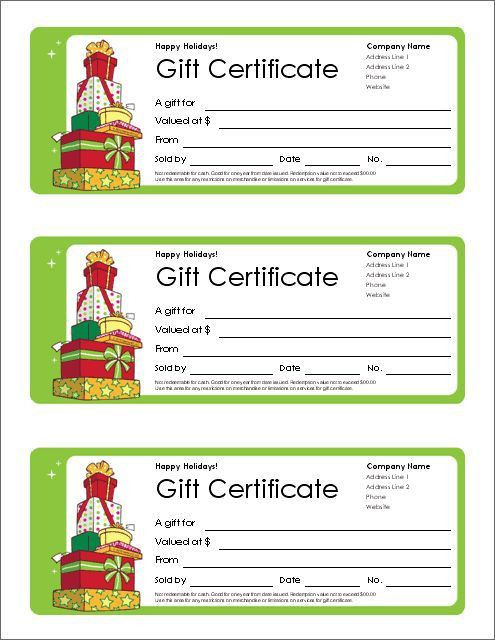 Gift Certificate for Services Template | Download Options for ...