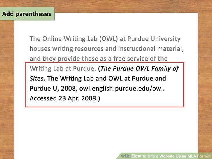 How to Cite a Website Using MLA Format: 15 Steps (with Pictures)