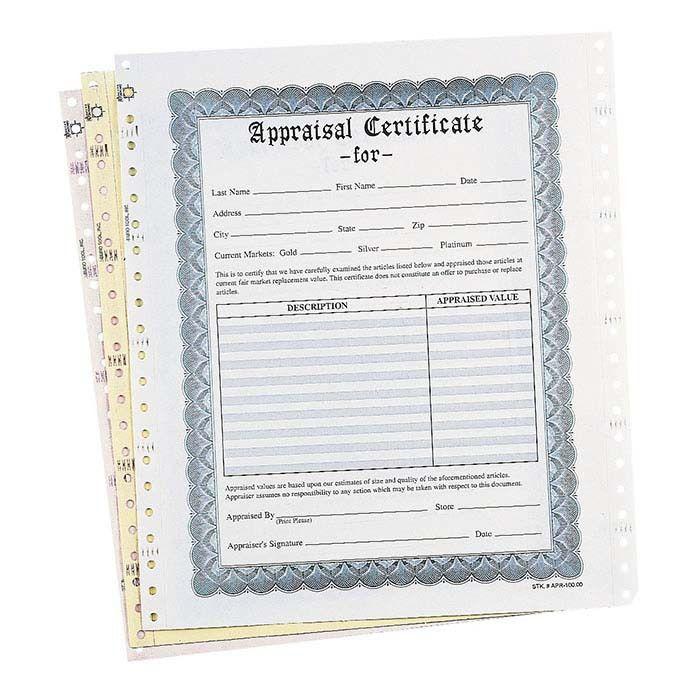 Jewelry Appraisal Form Template - Contegri.com