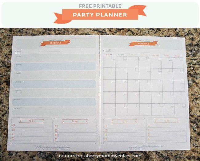FREE} Party Planner Printable - Printable Crush