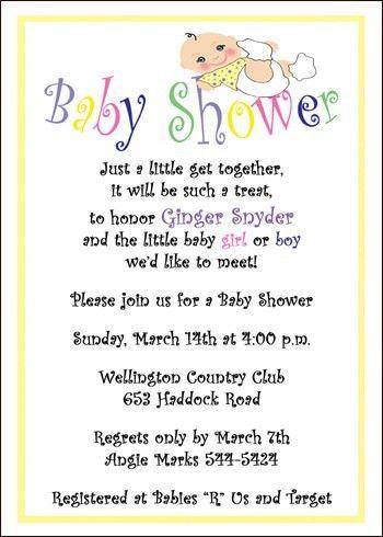 Wording for Baby Shower Invitations – frenchkitten.net