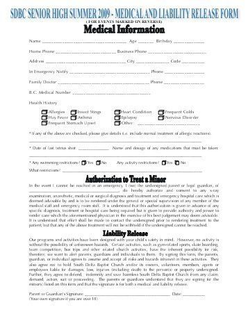 Hipaa Authorization Form. Medical/Liability Release Form Amazing ...