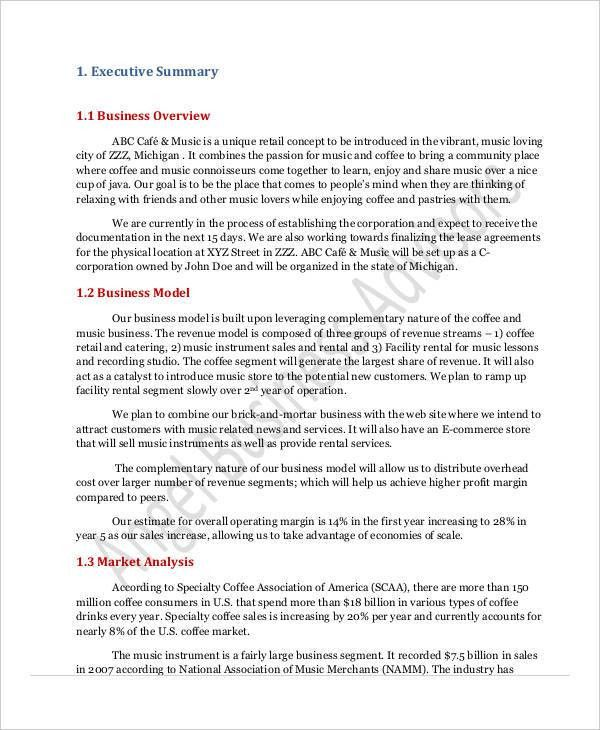 Awesome Sample Executive Summary Proposal Contemporary - Best ...
