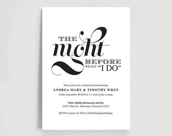 Wedding Rehearsal Dinner Printable - Invitation Card Editable ...