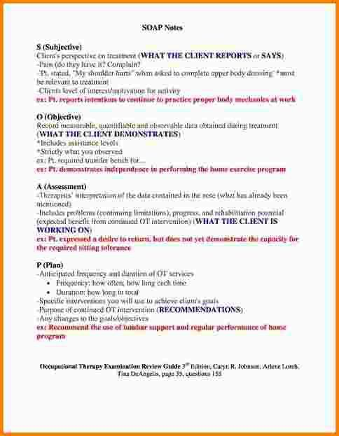 Soap Note Example. Soap Note Template 37 40 Fantastic Soap Note ...
