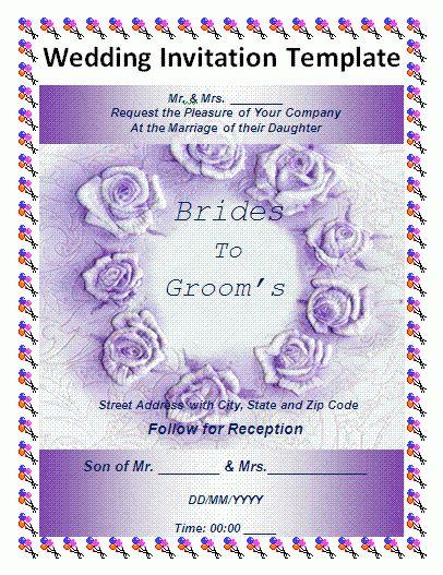 Wedding Invitation Letter Sample - iidaemilia.Com