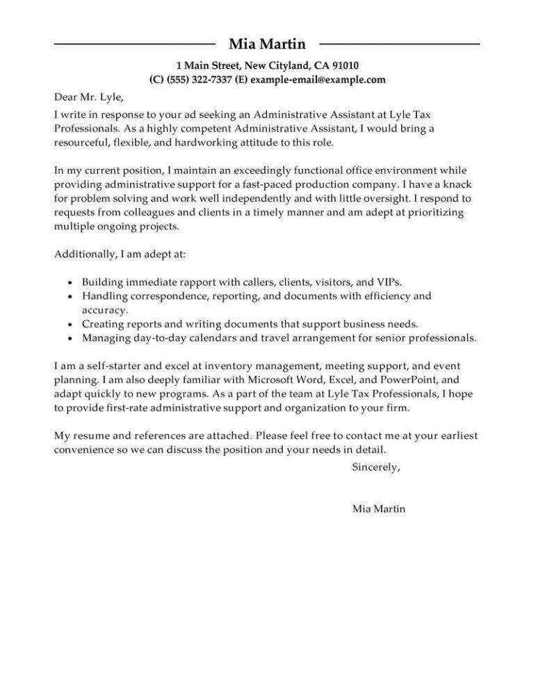 Pleasurable Ideas Administrative Cover Letter 3 Best Assistant ...