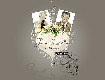 Wedding flash website template | Best Website Templates