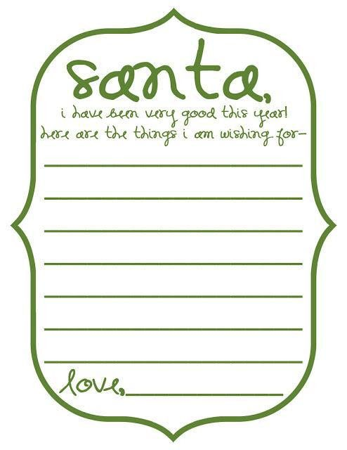 20 Free Printable Letters to Santa Templates   Spaceships and ...