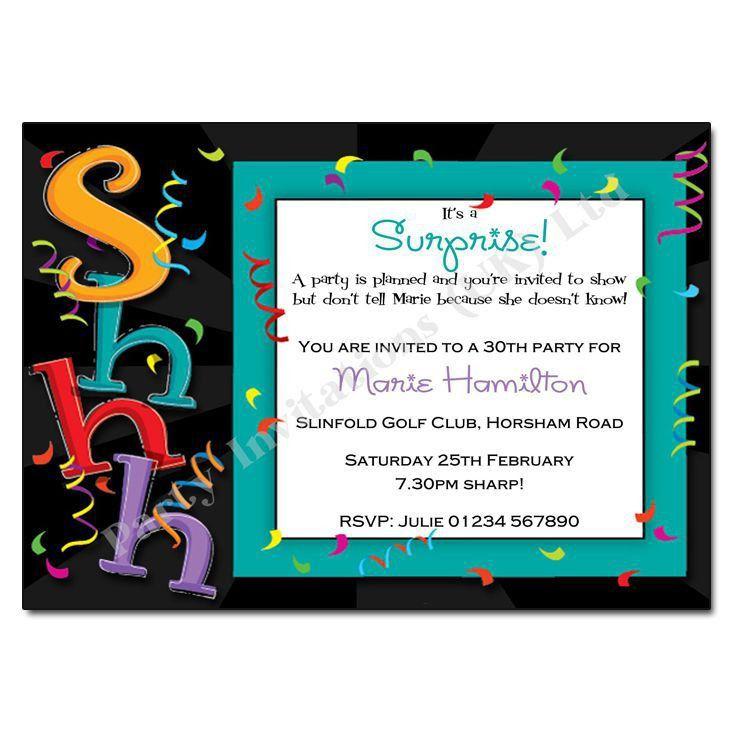 Surprise Birthday Invitations | Birthday Party Invitations