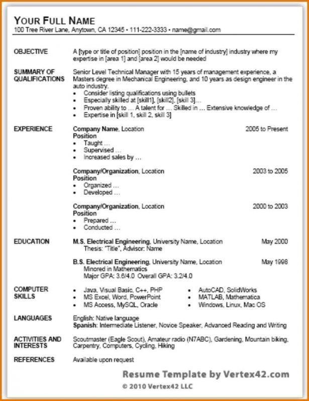 Curriculum Vitae : Peak Vista Health Special Skills And ...