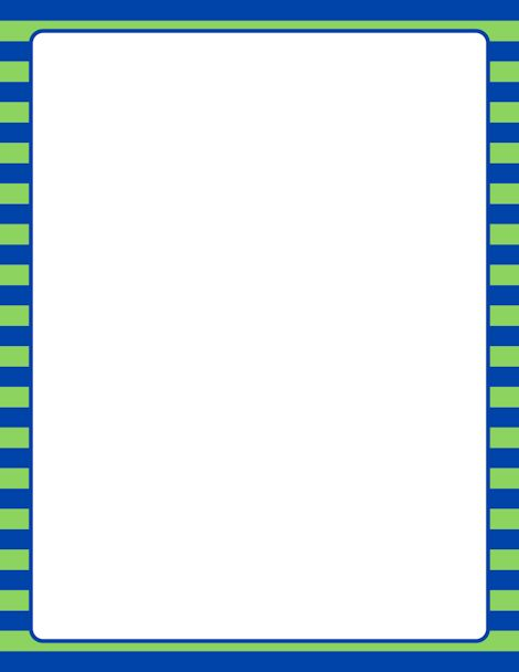 Printable blue and green striped border. Use the border in ...
