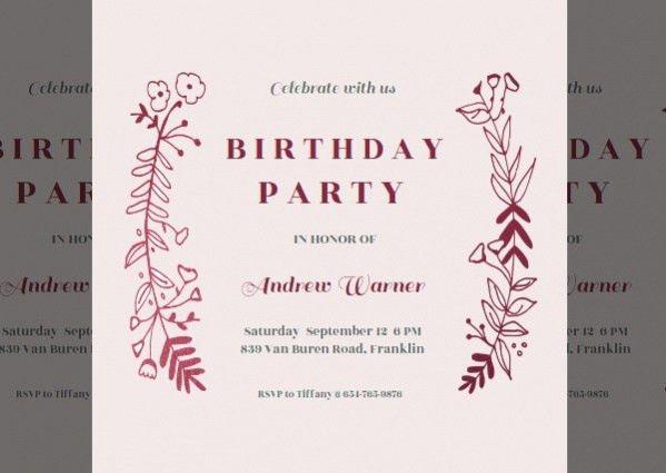 19+ Free Printable Birthday Invitations - PSD, AI Illustrator Download