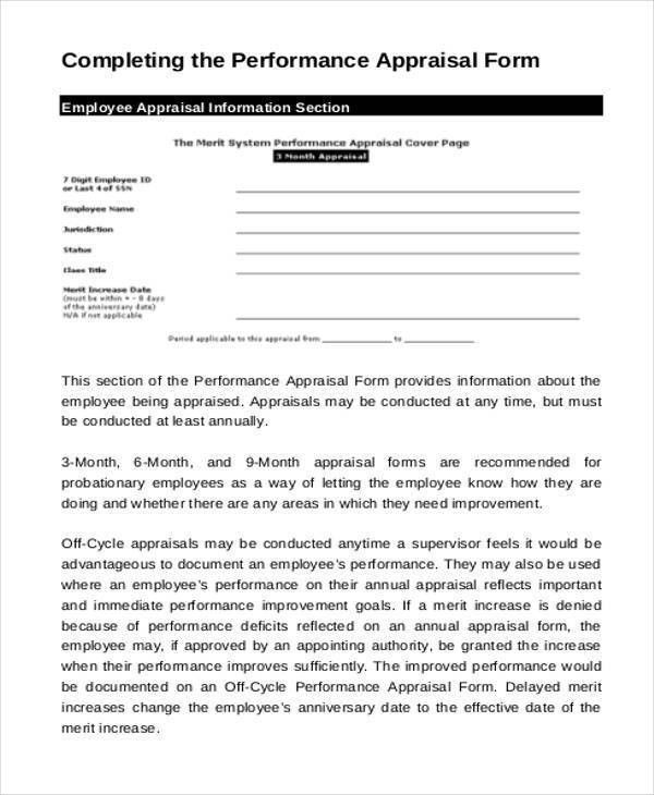 21+ Appraisal Form Examples - Free Sample, Example, Format ,Download