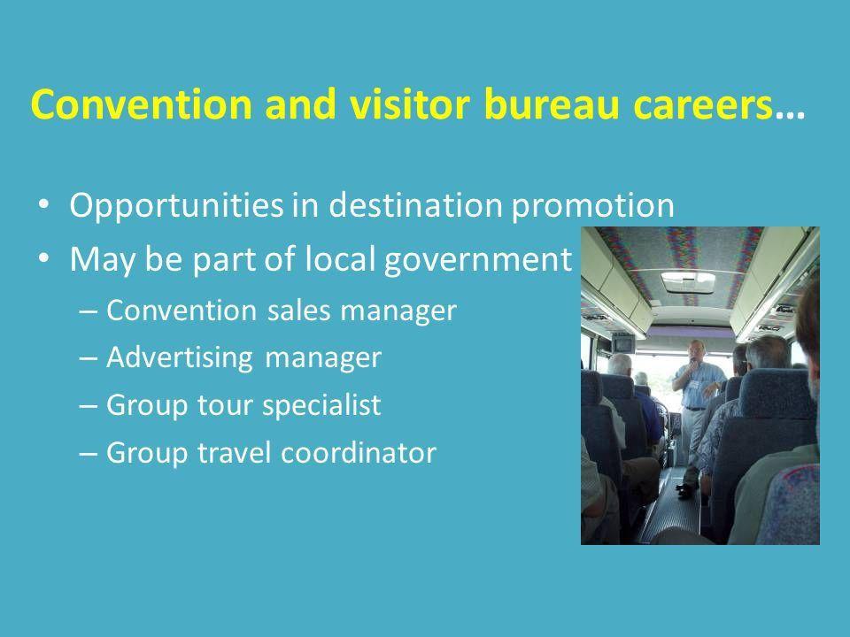 CAREER OPPORTUNITIES 7.01 Summarize career opportunities in the ...