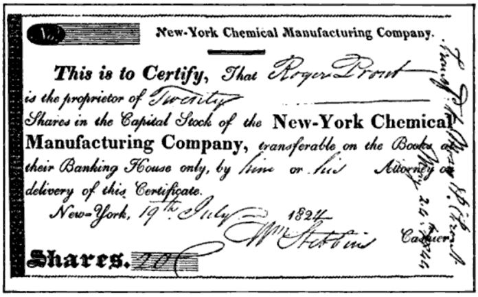 File:Certificate of Stock of Chemical Mfg Company 1824.png ...