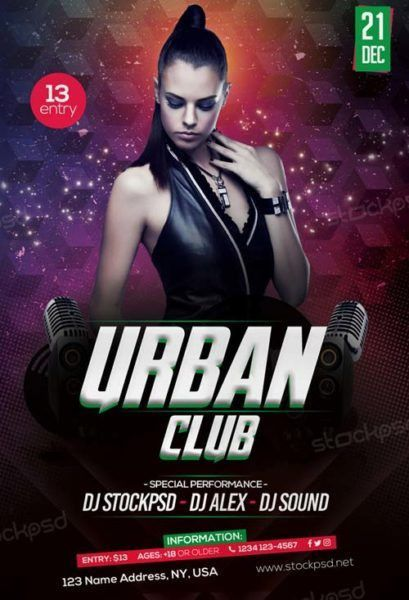 Free Urban Club Party Flyer Template - Download Flyer Templates