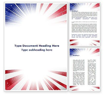American Flag Stylized Word Template 09079 | PoweredTemplate.com
