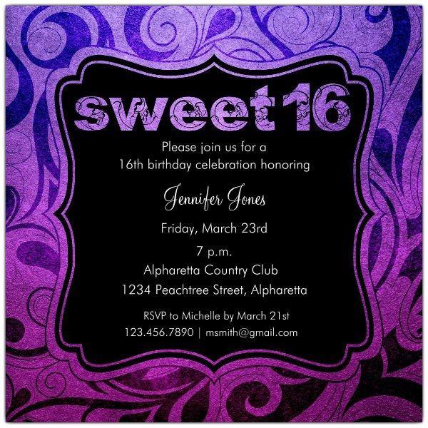 Sweet 16 Birthday Invitations - Kawaiitheo.Com