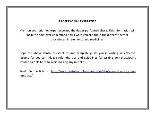 orthodontic assistant resume cover letters for dentist resume ...