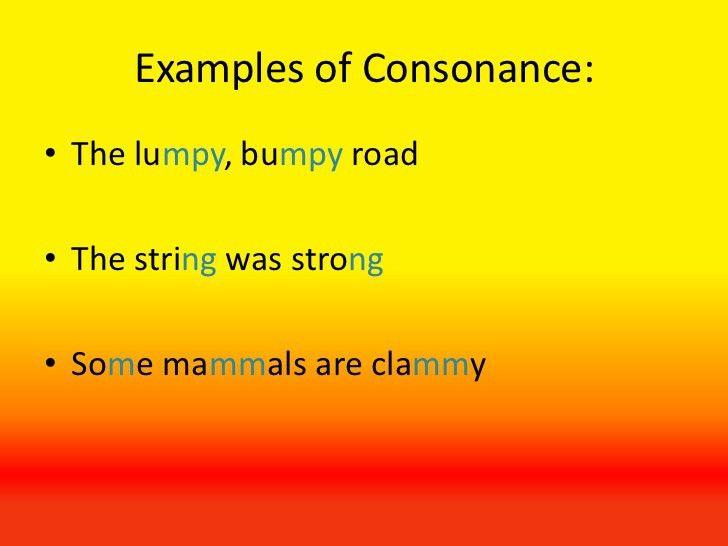 CONSONANCE EXAMPLES - alisen berde