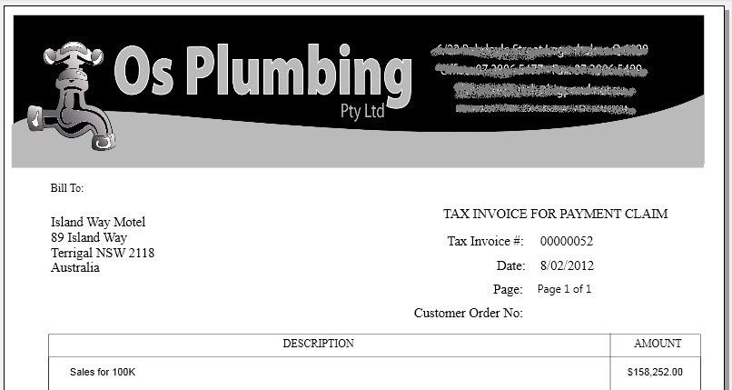 Download Plumbing Invoice Excel Template - Invoice Software and ...