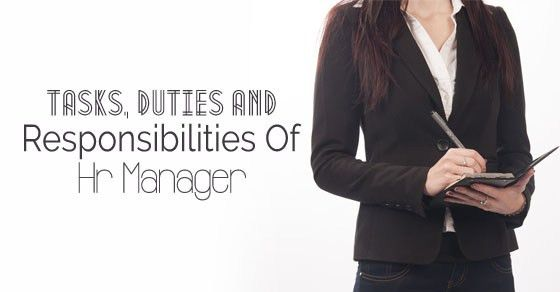 Tasks, Duties and Responsibilities of HR manager - WiseStep