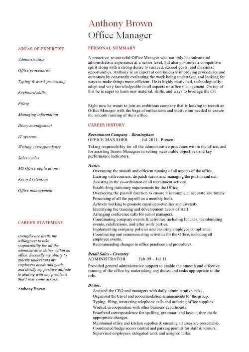 Office Manager Resume Example | haadyaooverbayresort.com