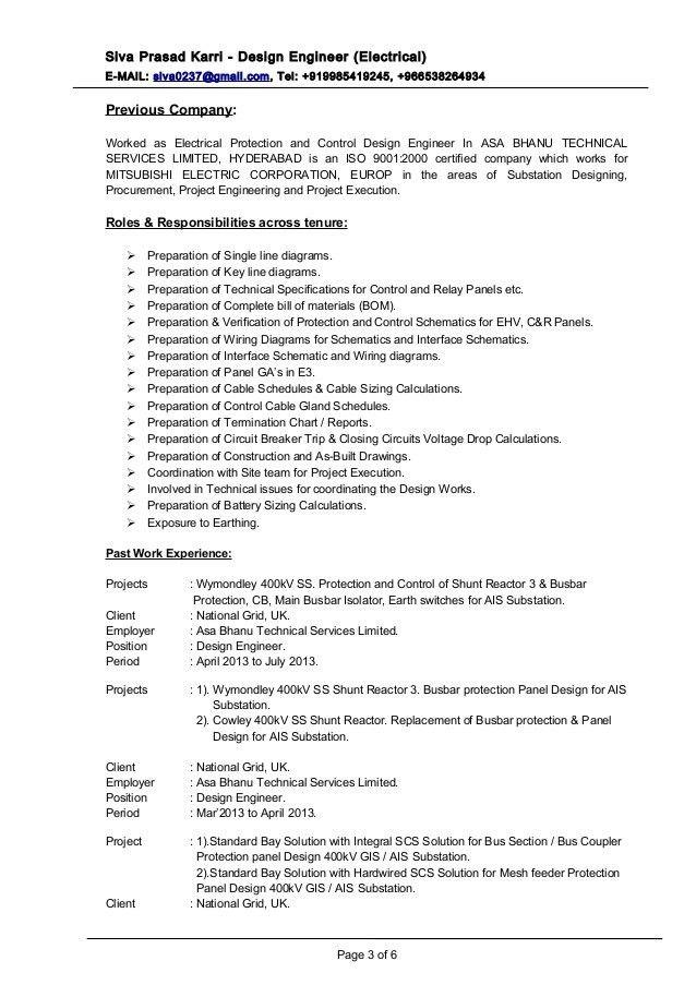 resume electrical engineer electrical engineer resume sample