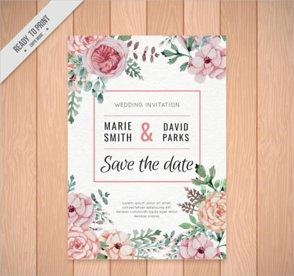 Wedding Invitations Template - 9+ Free PSD, Vector EPS, PNG Format ...