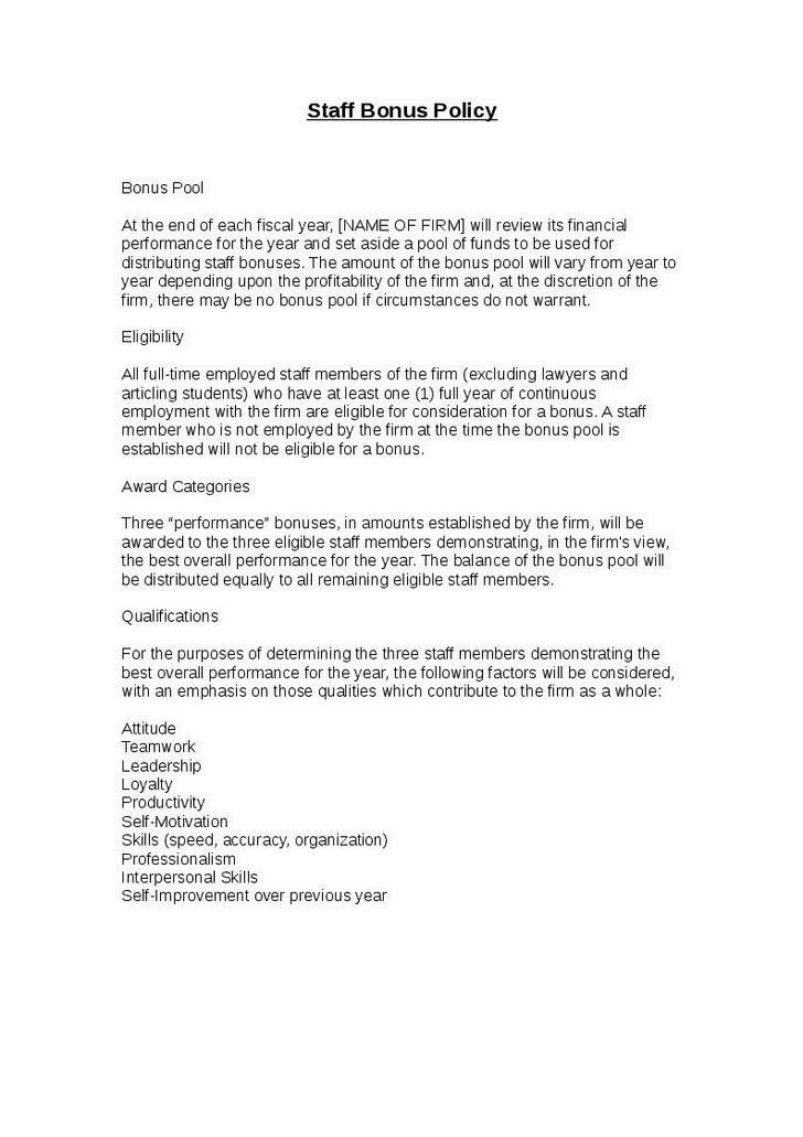 Letter Format » Bonus Letter Format - Cover Letter and Resume Samples