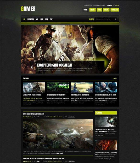 35+ Gaming Joomla Themes & Templates | Free & Premium Templates