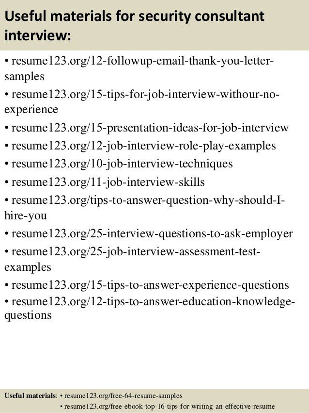 sample security consultant resume top 8 security consultant