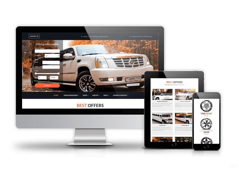 All Cars - responsive car dealer website template