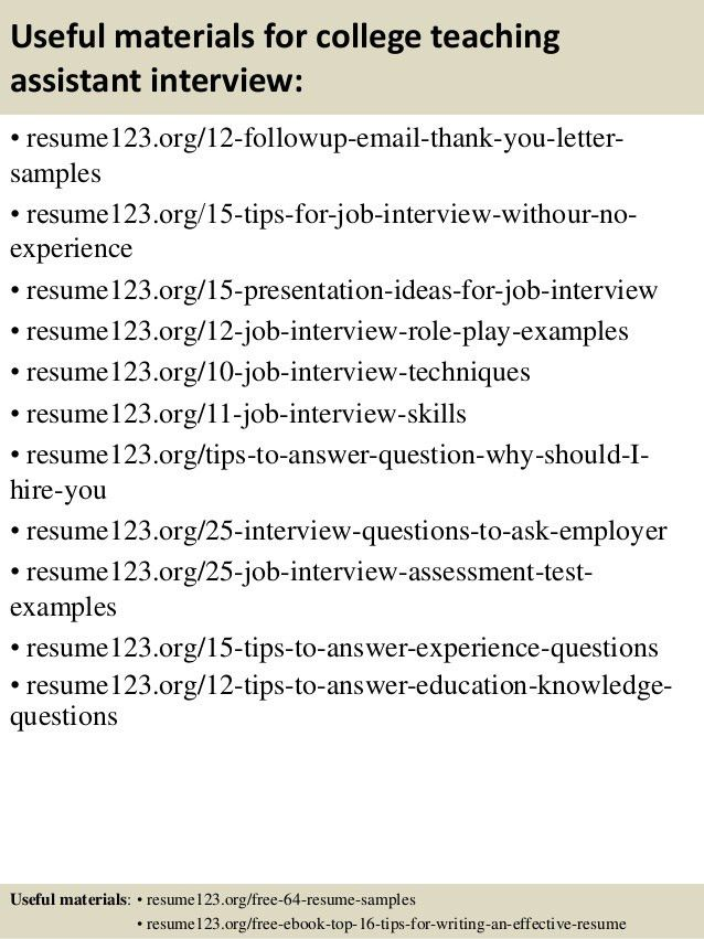 Teaching Assistant Resume. Best Solutions Of Preschool Teacher ...