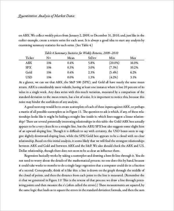 Sample Quantitative Analysis - 8+ Examples in PDF