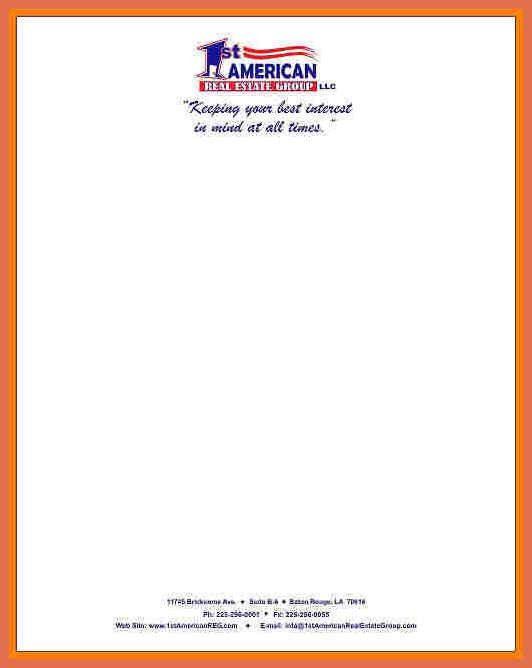 letterhead example | bio example