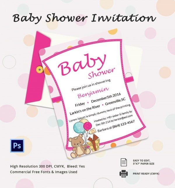 Baby Shower Invitation Template | wblqual.com