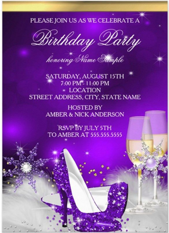 Adult Birthday Invitation Template – 16+ Free PSD, Vector EPS, AI ...