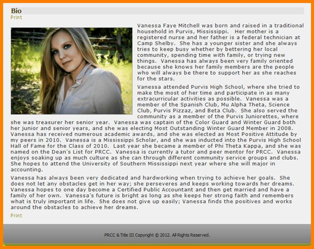 narrative biography example profile. you can use your biography on ...