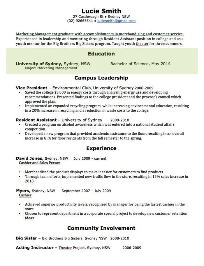 CV Template | Free Professional Resume Templates Word | Open Colleges