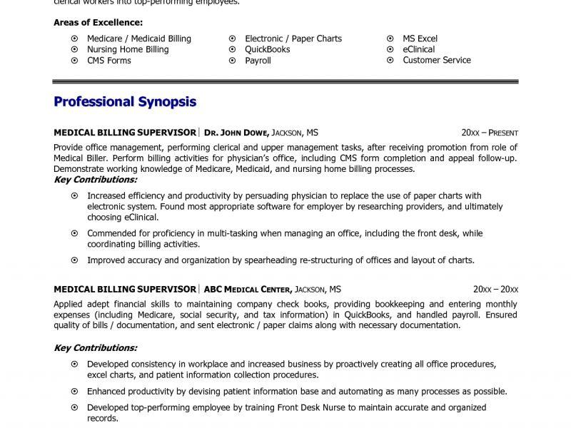 sample medical billing resume medical billing resume