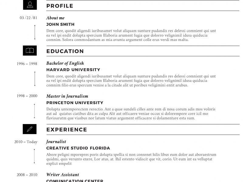 Ms Word Resume Template. Sample Microsoft Word College Student ...