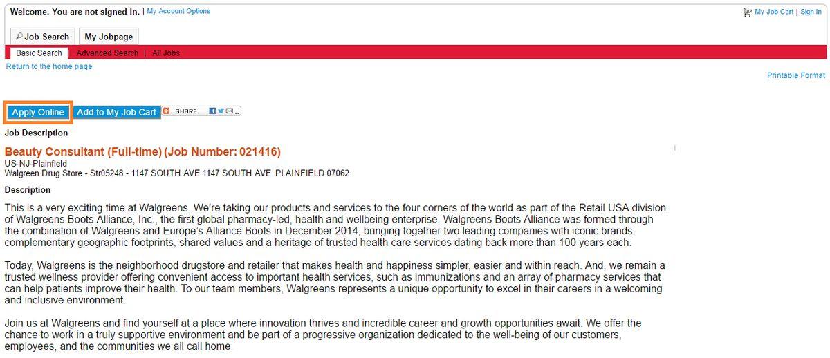 Walgreens Job Application & Career Guide | Job Application Review