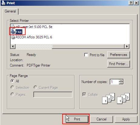 How to send or receive a Fax by TM-IP5600 in Windows XP - TP-Link
