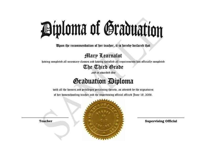 Certificate Of Graduation Sample - Template Update234.com ...