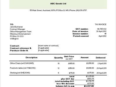 Tax Invoice Template. Ato Tax Invoice Template | Invoice Example ...