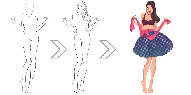 Download FREE Fashion Templates | I Draw Fashion