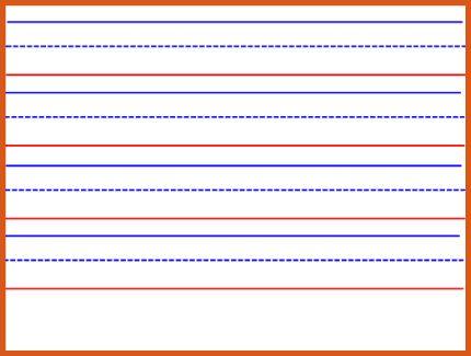 kindergarten lined paper | general resumes