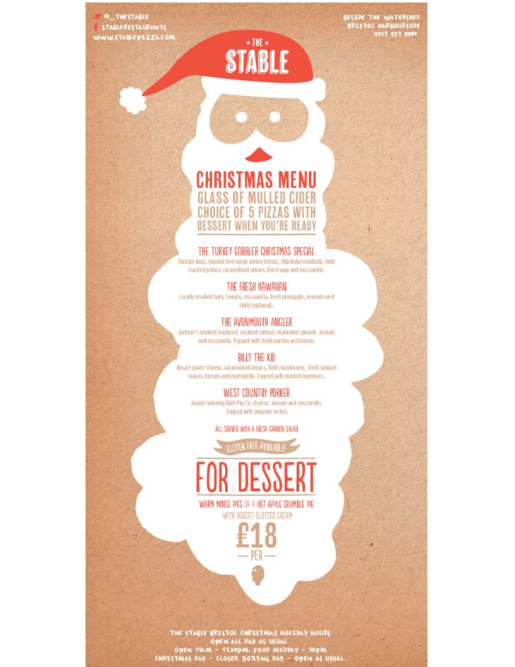 Christmas Menu Sample Template Free Download
